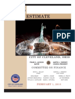 2013 City of Cleveland, Mayor's Estimate General Fund Budget