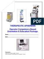 Therapeutic Apheresis Operator Competency Aug06