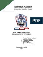MODALIDADES DE TITULACIÓN CCP