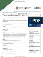 Dicionário da Construção Civil - Letra A
