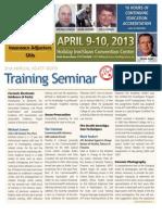KSATF April 2013 Training Seminar