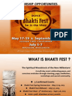Bhakti Fest Sponsor Opportunities