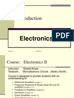 Electronics-II Lecture 01