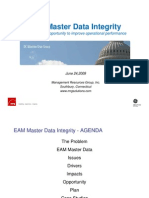 EAM Master Data Integrity