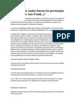 Resumen Del Diario de Ana Frank y El Perfume