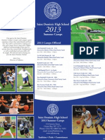 2013 St Dominic Summer Camps