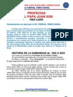 Las Profesias Del Papa Juan Xxiii Comentadas