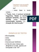 Texto, Textualizacao e Textual