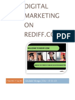 Digital Marketing on Rediff