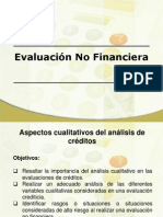 Evaluación No Financiera