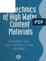 Geotechnics of High Water Content Materials