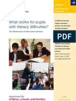 What Works for Children With Literacy Difficulties? by Greg Brooks
