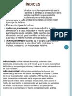 Exposición. Indices,tabulación,captura de datos