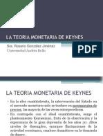 La Teoria Monetaria de Keynes 14 de Sept