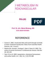 Metabolisme Lipid Kardiovaskuler - Prof. Maria Bintang - 25 Sept 2012