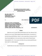S.D.ms ECF 93 2013-02-19 - Taitz v DPM - Order Denying Default