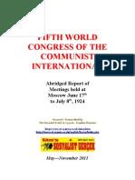 1924 Fifth Congress Communist International
