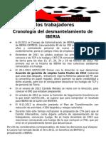 Comunicado Comisión de Trabajadores Asamblearios CTA (12-2-2013) Conflicto Iberia