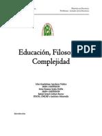 Educación, Filosofía y Complejidad