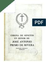 Corona de sonetos en honor de José Antonio Primo de Rivera