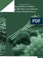 Guía  para reducir al Mínimo el Riesgo Microbiano en los Alimentos para Frutas y Hortalizas