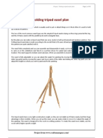 Folding Tripod Easel Plan