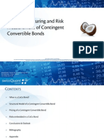 SwissQuant Pricing Structuring and Risk Measurement of Contingent Convertible Bonds