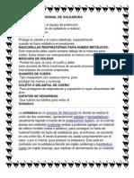 PROTECCIÓN PERSONAL DE SOLDADURA