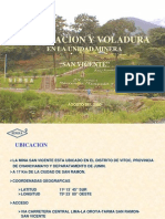 02-PV23 Perforacion y Voladura en La Unidad Minera San Vicente-PERU