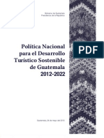 Politica Turismo Guatemala