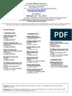Hot Sheet February 15-22, 2013