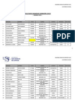 Resultados 3er Examen Cusco - Merito