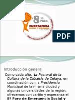 8o. Foro Emergencia Social y Cultural