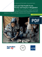 Impact of Maternal and Child Health Private Expenditure on Poverty and Inequity in Bangladesh (Technical Report B)