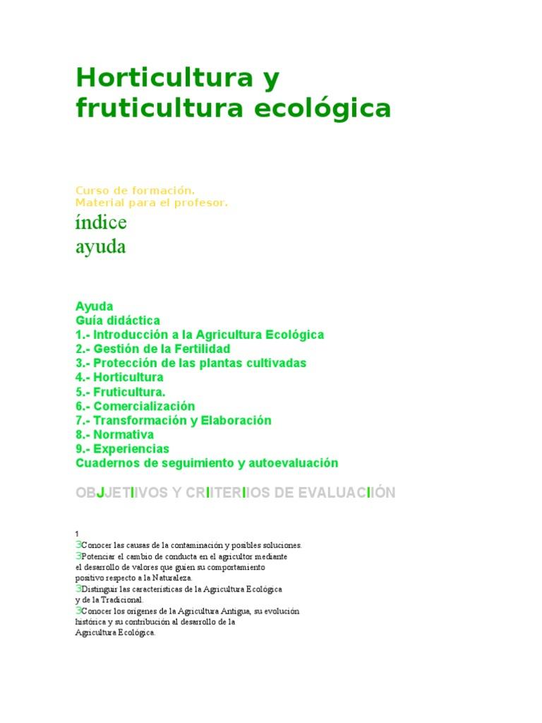 Horticultura y