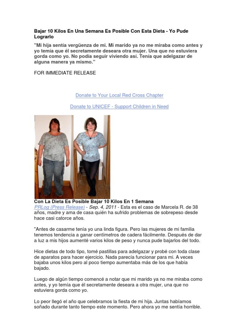 dietas para adelgazar en una semana 10 kilos