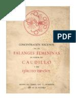 Concentración nacional de las Falanges femeninas en honor del Caudillo y del Ejército Español