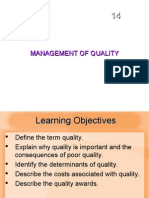 MBA IInd SEM POM Chapter 04 Quality Management