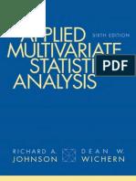46954381 Applied Multivariate Statistical Analysis