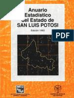 Anuario Estadistico 1993 San Luis Potosi