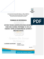 Terminos Referencia Estudio Justificativo Rio Las Fuentes 9 Nov