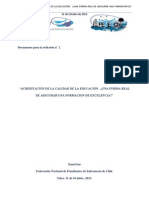 Documento de Reflexión. ACREDITACIÓN DE LA CALIDAD DE LA EDUCACIÓN.