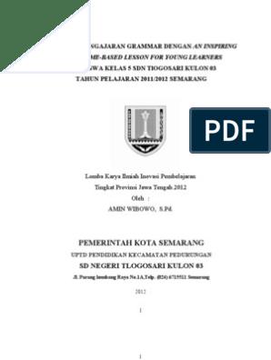 Lomba Karya Ilmiah Inovasi Pembelajaran Tk Provinsi Jateng 2012 2012 By Amin