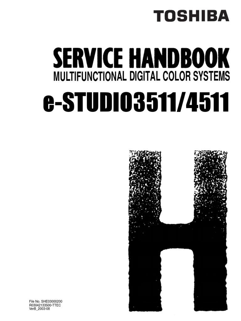 toshiba e studio3511 4511 service handbook
