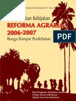 Pembentukan Kebijakan Reforma Agraria 2006-2007