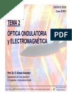 Optica - Tema 2 - Optica Ondulatoria y Electromagnetica - 2010-11