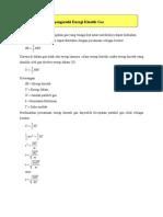 Faktor Yang Mempengaruhi Energi Kinetik Gas