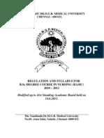 Bsc n Regulations 2010 Ver 2