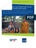 Impact of Maternal and Child Health Private Expenditure on Poverty and Inequity