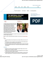 Imperial College PhD Scholarships